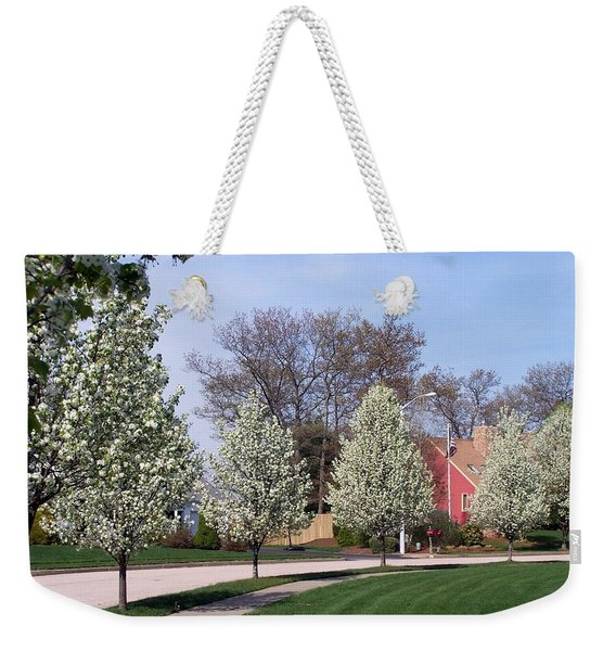 Weekender Tote Bag featuring the photograph Crab Apple Trees by Cynthia Amaral