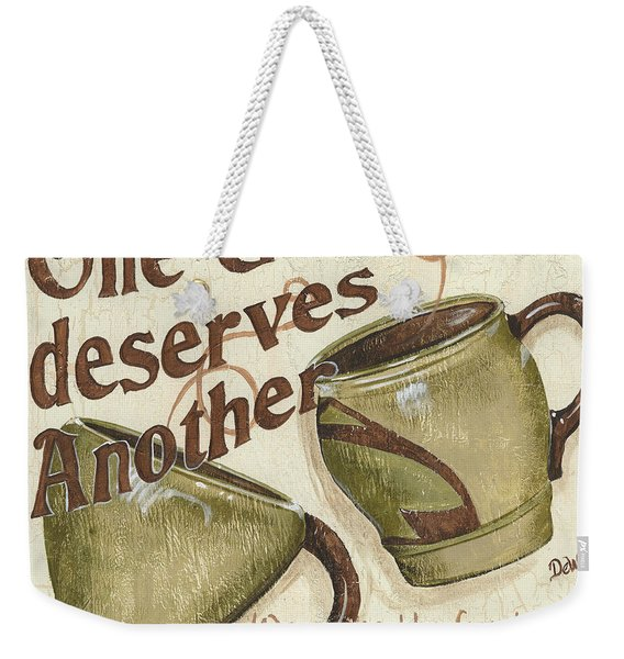 Cream Coffee 2 Weekender Tote Bag