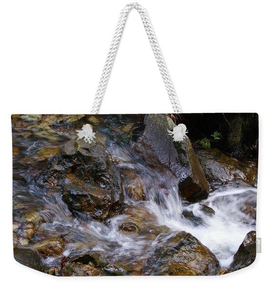 Creek Scene On Mt Tamalpais Weekender Tote Bag