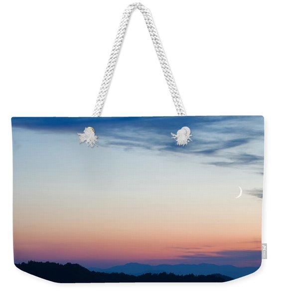 Crescent Moon Twilight Weekender Tote Bag