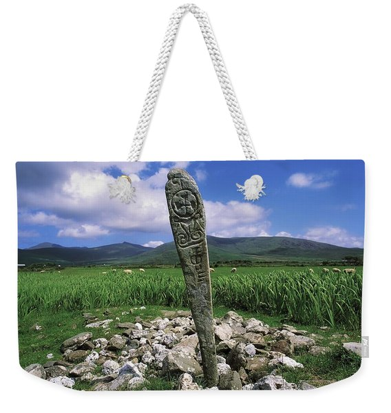 Cross Slab, Dingle Peninsula, Co Kerry Weekender Tote Bag