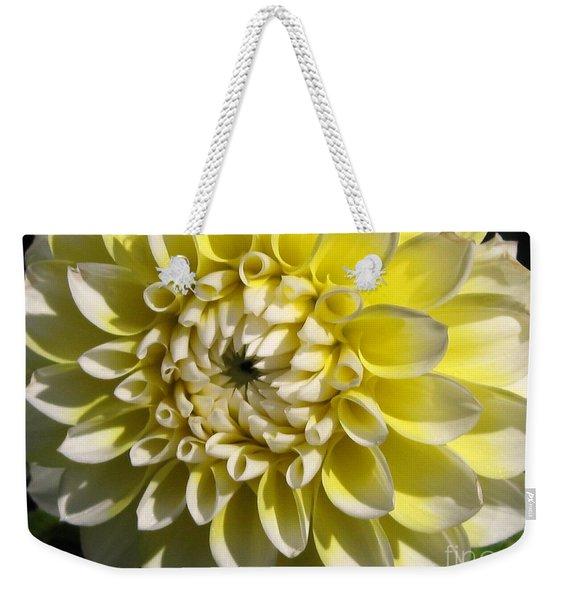Dahlia Named Korb's Yellow Hi-light Weekender Tote Bag