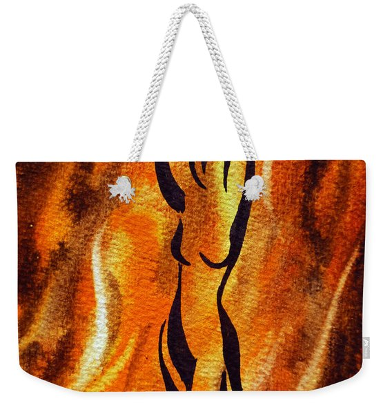 Dancing Fire V Weekender Tote Bag