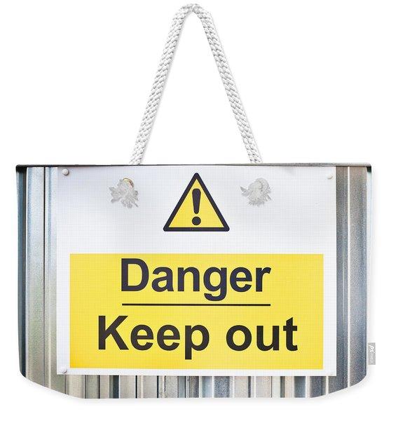 Danger Sign Weekender Tote Bag