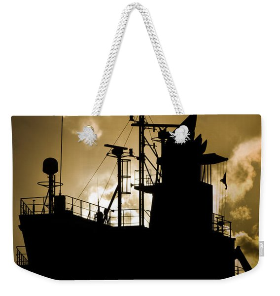 Dark Superstructure Weekender Tote Bag