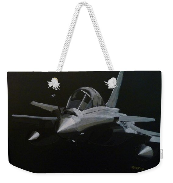Weekender Tote Bag featuring the painting Dassault Rafale by Richard Le Page
