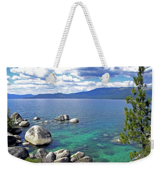 Deep Waters Lake Tahoe Weekender Tote Bag