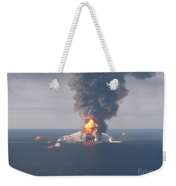 Deepwater Horizon Fire, April 21, 2010 Weekender Tote Bag