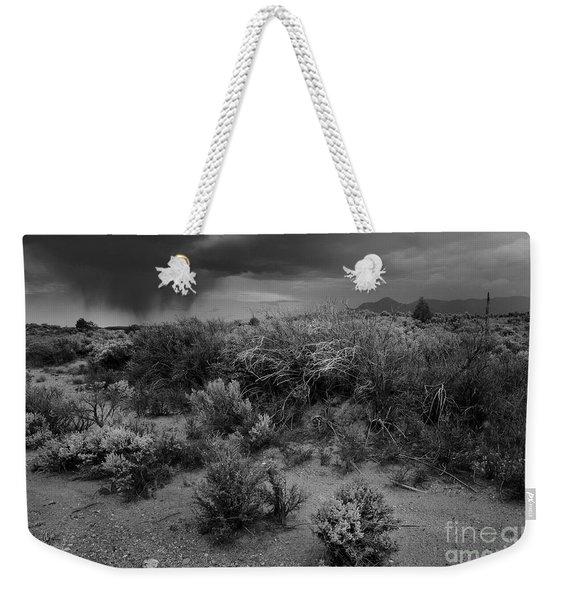 Distant Shower Weekender Tote Bag
