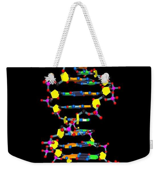 Dna 37 Black Weekender Tote Bag