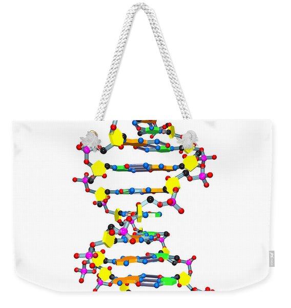 Dna 37 White Weekender Tote Bag