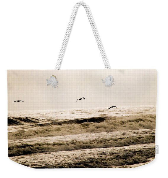 Dodging The Waves Weekender Tote Bag