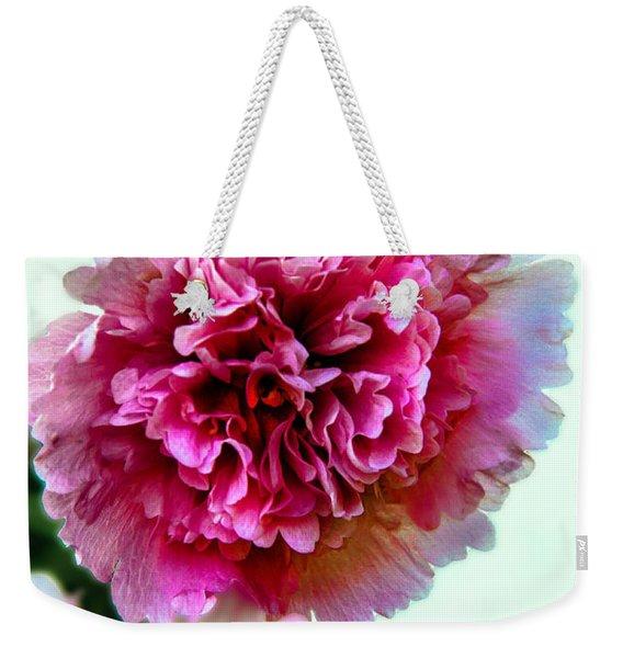 Double Hollyhock Weekender Tote Bag