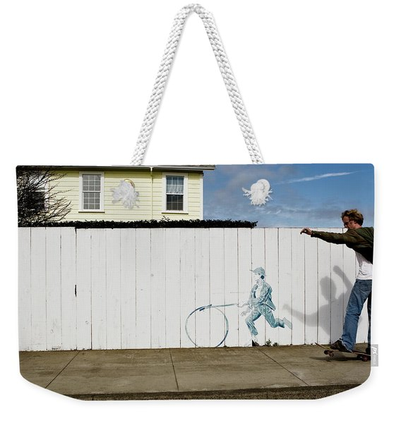 Weekender Tote Bag featuring the photograph Downhill Buddy by Lorraine Devon Wilke
