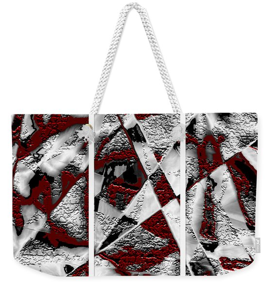 Dramatique Red Triptych Weekender Tote Bag