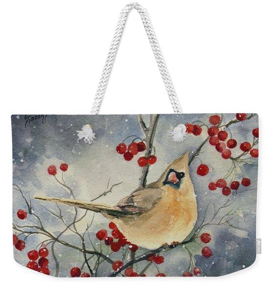 Dustie's Cardinal Weekender Tote Bag