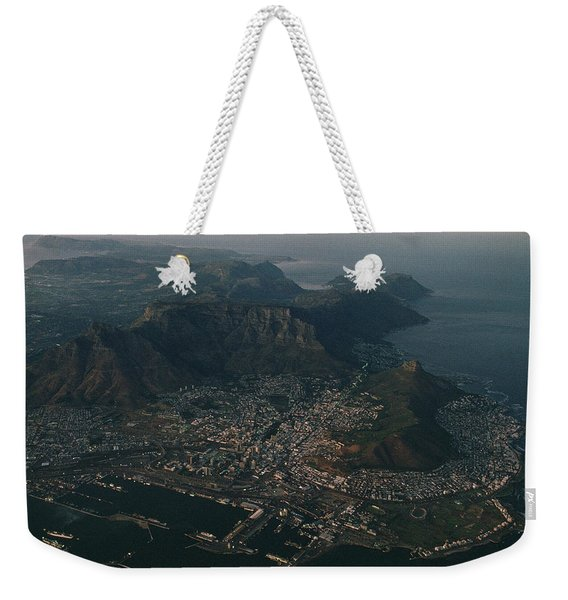 Early Morning Aerial View Of Cape Town Weekender Tote Bag