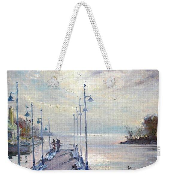 Early Morning In Lake Shore Weekender Tote Bag