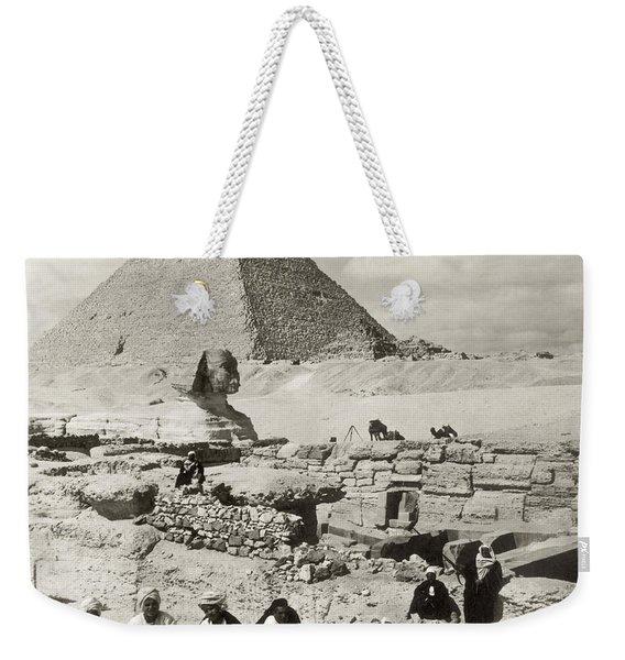 Egypt: Great Sphinx, 1908 Weekender Tote Bag