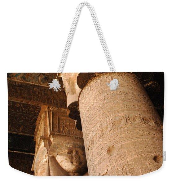 Egypt Temple Of Dendara Weekender Tote Bag