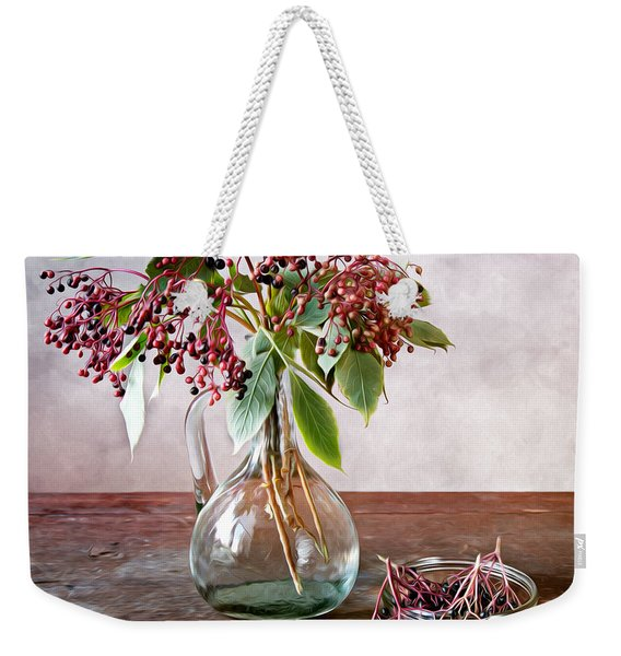 Elderberries 01 Weekender Tote Bag