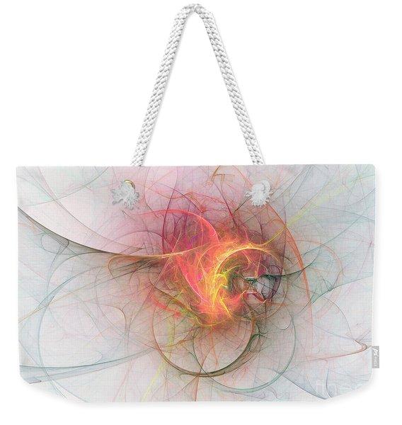 Electric Blossom Weekender Tote Bag