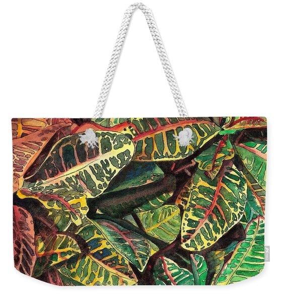 Elena's Crotons Weekender Tote Bag