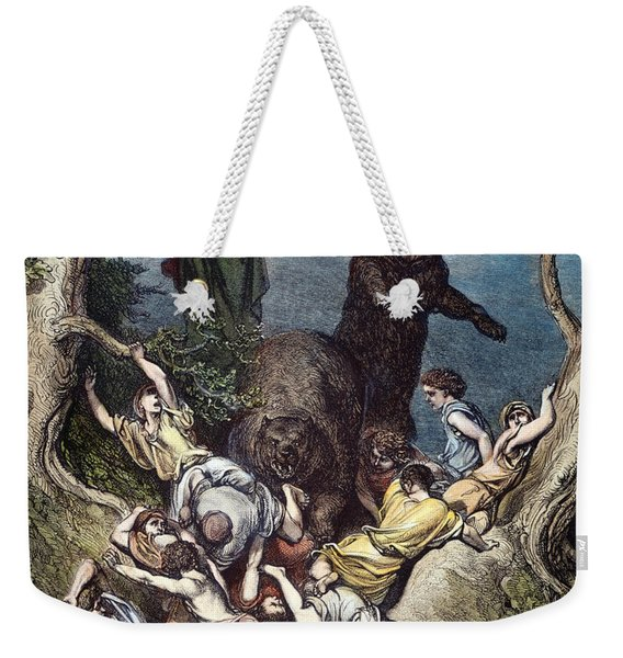 Elisha And The She-bears Weekender Tote Bag
