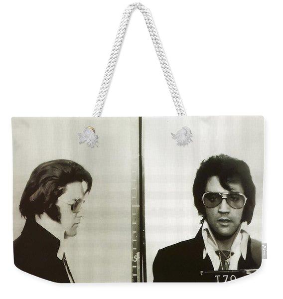 Elvis Mugshot 1970 Weekender Tote Bag