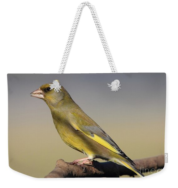 European Greenfinch Weekender Tote Bag