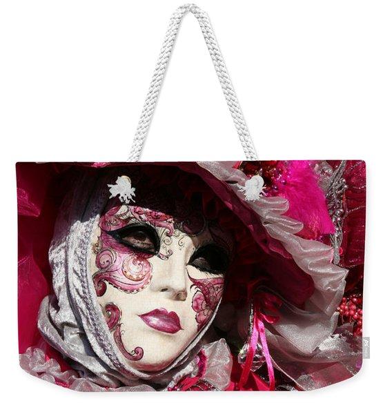 Eve In Pink Weekender Tote Bag
