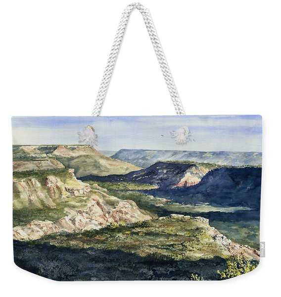 Evening Flight Over Palo Duro Canyon Weekender Tote Bag