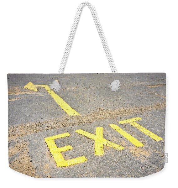 Exit Sign Weekender Tote Bag