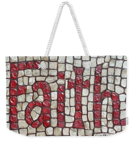 Weekender Tote Bag featuring the painting Faith by Cynthia Amaral