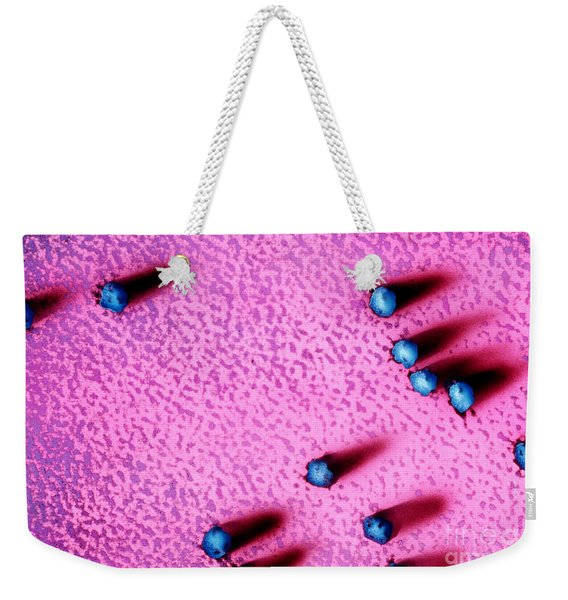 False Color Tem Of Ribosomes Weekender Tote Bag