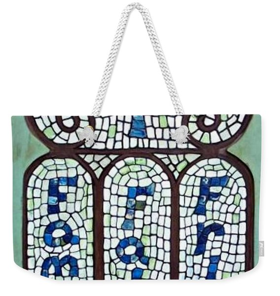 Weekender Tote Bag featuring the painting Family Faith Friend by Cynthia Amaral