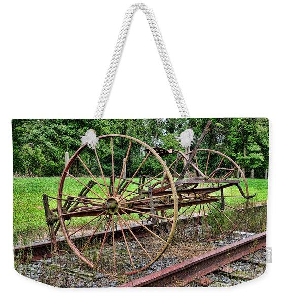 Farm - Horse-drawn Combine Weekender Tote Bag