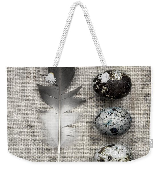 Feather And Three Eggs Weekender Tote Bag