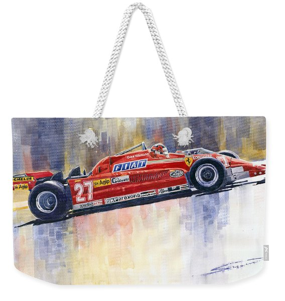 Ferrari 126 Ck Gilles Villeneueve Spanish Gp 1981 Weekender Tote Bag