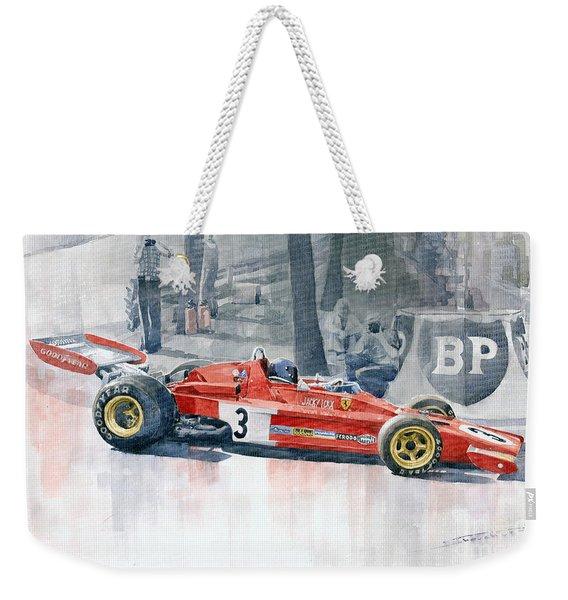 Ferrari 312 B3 Monaco Gp 1973 Jacky Ickx Weekender Tote Bag