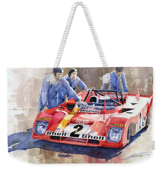 Ferrari 312 Pb 1972 Daytona 6-hour Winning Weekender Tote Bag