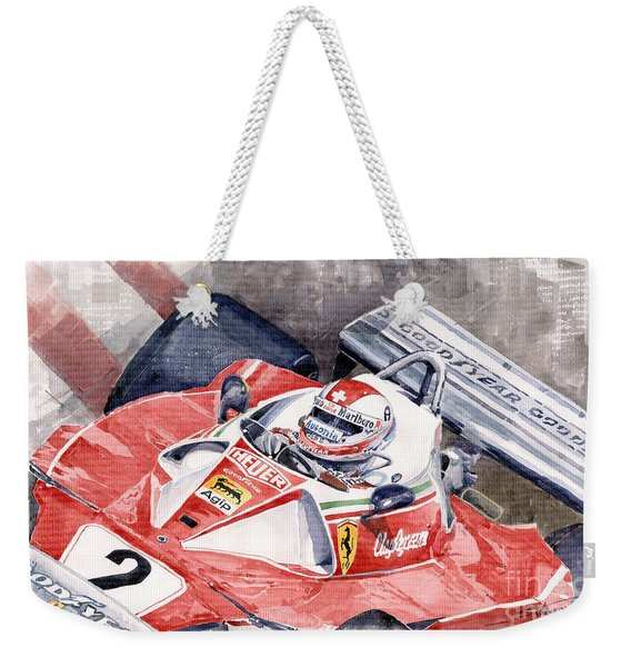 Ferrari 312 T 1976 Clay Regazzoni Weekender Tote Bag