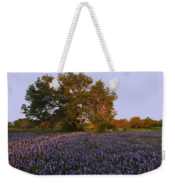 Field Of Blue Weekender Tote Bag