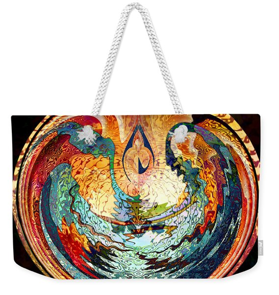Fire And Water Weekender Tote Bag
