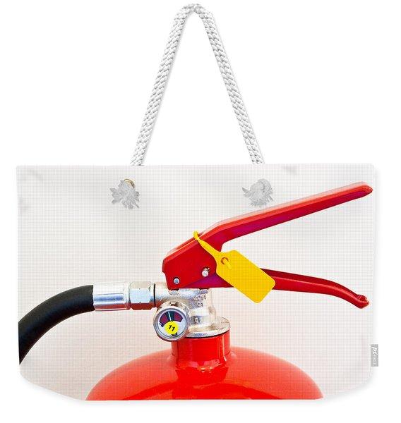 Fire Extinguisher Weekender Tote Bag