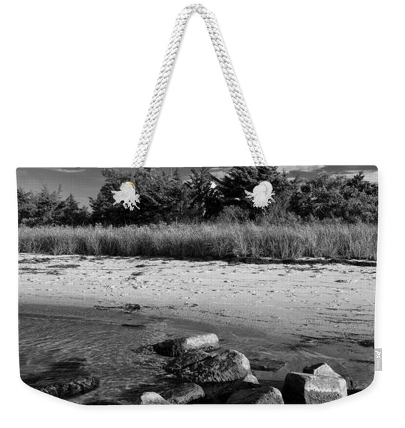 Fire Island In Black And White Weekender Tote Bag