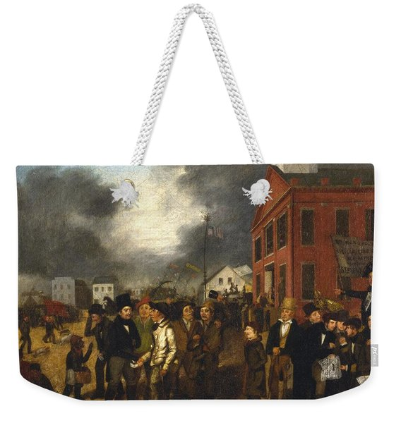 First State Election In Detroit - Michigan Weekender Tote Bag