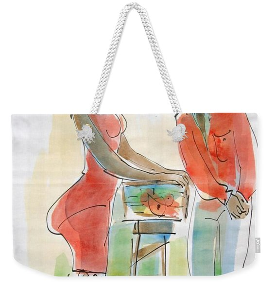 Fish And Bammy Weekender Tote Bag