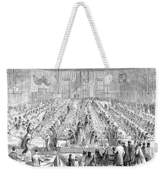 Five Points Mission, 1865 Weekender Tote Bag