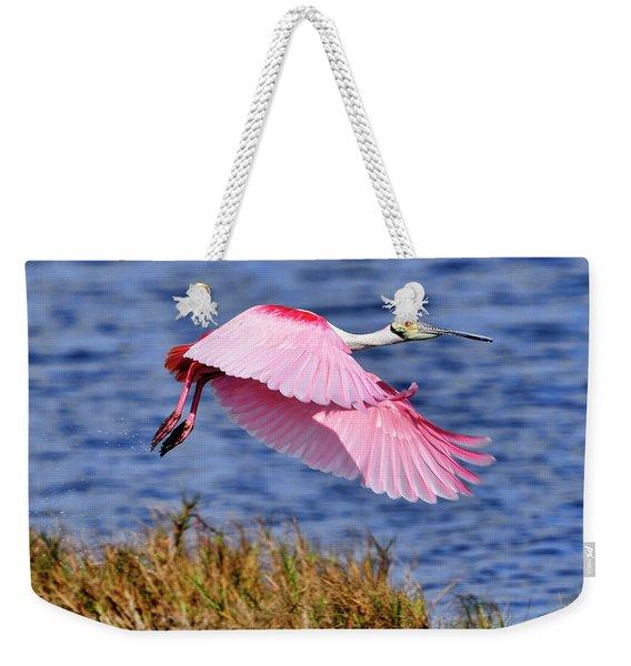 Flight A Roseate Spoonbill Weekender Tote Bag